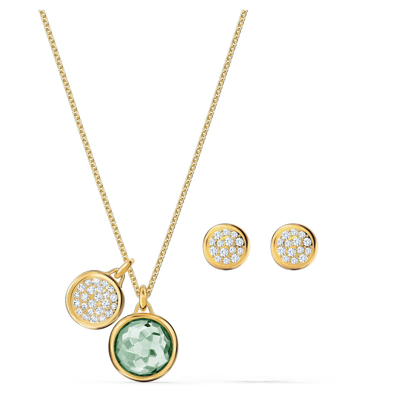 Parure Tahlia, vert, métal doré | Swarovski.com