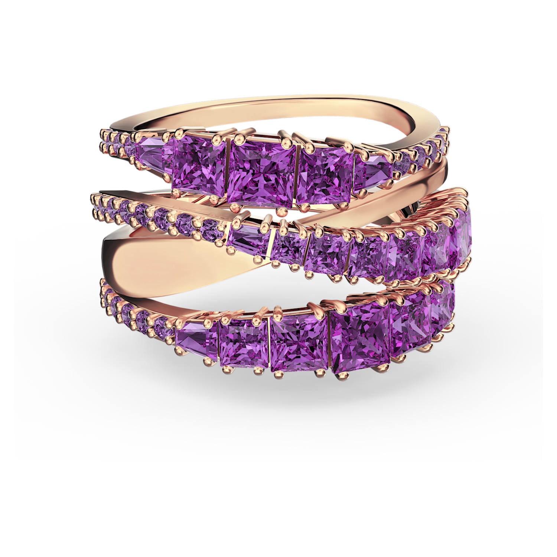 Wrap Cuff Links /& Tie Tack Rectangular Starburst Blue Green Aurora Borealis Crystals in Openwork Silver Tone Mounts Matching Tack Purple