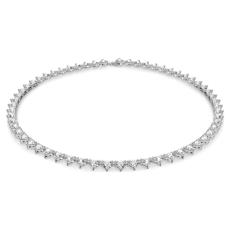 SpinningDaisy Silver Plated White Stripe Zebra Necklace