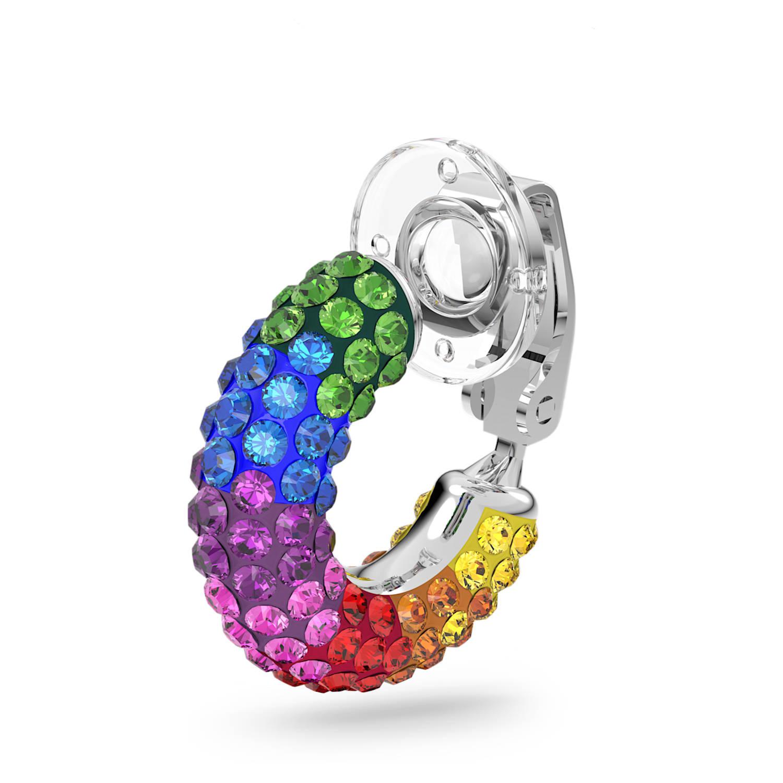 Tigris ear cuff, Single, Multicolored, Rhodium plated | Swarovski.com