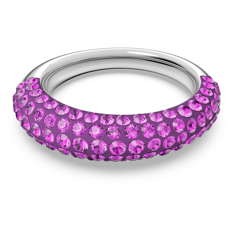 Tigris ring, Pink, Rhodium plated