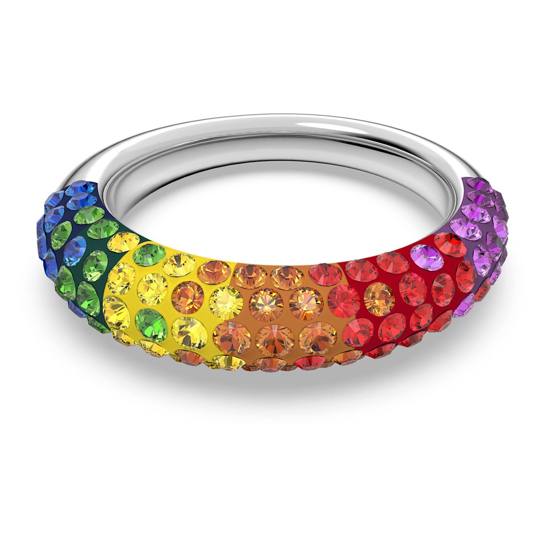 Tigris ring, Multicolored, Rhodium plated