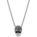Taddeo Skull 链坠, 黑色, 多种金属润饰 - Swarovski, 1180839