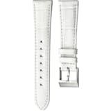 Bracelet de montre 18mm, cuir avec coutures, blanc, acier inoxydable - Swarovski, 5222593
