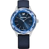 Octea Nova 腕表, 真皮表带, 蓝色, 不锈钢 - Swarovski, 5295349