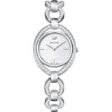 Stella 腕表, 金属手链, 白色, 不锈钢 - Swarovski, 5376815