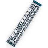 Domino Large Bracelet, Blue lacquer plating - Swarovski, 5377534