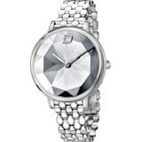Crystal Lake 腕表, 金属手链, 白色, 不锈钢 - Swarovski, 5416017