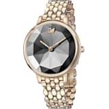 Crystal Lake 腕表, 金属手链, 深灰色, 香槟金色调 PVD - Swarovski, 5416026