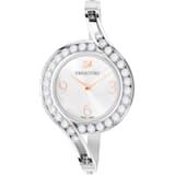 Lovely Crystals Bangle 腕表, 金属手链, 白色, 不锈钢 - Swarovski, 5452492