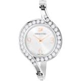 Lovely Crystals Bangle 腕表, 金属手链, 白色, 不锈钢 - Swarovski, 5453655