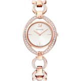 Stella 腕表, 金属手链, 白色, 玫瑰金色调 PVD - Swarovski, 5470415