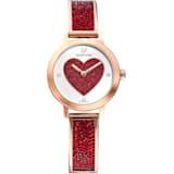 Cosmic Rock 腕表, 金属手链, 红色, 玫瑰金色调 PVD - Swarovski, 5483519