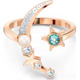 Starry Night Moon 戒指, 浅色渐变, 镀玫瑰金色调 - Swarovski, 5483534
