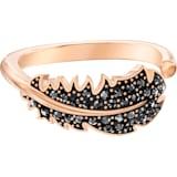 Naughty 戒指图案, 黑色, 镀玫瑰金色调 - Swarovski, 5495296