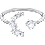 Penélope Cruz Moonsun 开口戒指, 白色, 镀铑 - Swarovski, 5508441