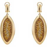 Evil Eye Drop Clip Earrings, Small, Brown, Gold-tone plated - Swarovski, 5511784