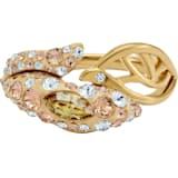 Graceful Bloom 戒指, 咖啡色, 镀金色调 - Swarovski, 5511821