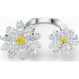 Eternal Flower 开口戒指, 黄色, 多种金属润饰 - Swarovski, 5512656