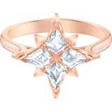 Swarovski Symbolic Star 戒指图案, 白色, 镀玫瑰金色调 - Swarovski, 5513218