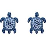 Kolczyki sztyftowe Mustique Sea Life Turtle, niebieskie, powlekane palladem - Swarovski, 5533748