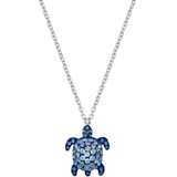 Mustique Sea Life Turtle 链坠, 小码, 蓝色, 镀钯 - Swarovski, 5533756