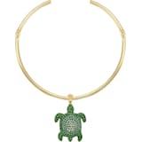 Mustique Sea Life Turtle Чокер, Зеленый Кристалл, Покрытие оттенка золота - Swarovski, 5533764