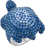Mustique Sea Life Turtle Yüzük, Büyük, Mavi, Paladyum kaplama - Swarovski, 5535424