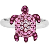Mustique Sea Life Turtle Ring, Small, Pink, Palladium plated - Swarovski, 5535433