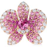 闪耀如兰18K玫瑰金粉红蓝宝石钻石链坠 - Swarovski, 5538161
