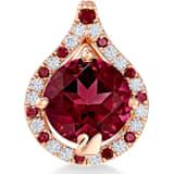 纯真之恋18K玫瑰金红托帕石(热熔)钻石链坠 - Swarovski, 5538905