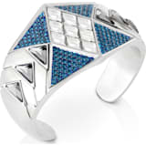 Karl Lagerfeld Statement Cuff, Blue, Palladium plated - Swarovski, 5568630