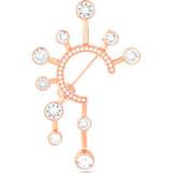 Broche Theater , blanco, baño tono oro rosa - Swarovski, 5569131