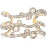 Tigris Cuff, White, Gold-tone plated - Swarovski, 5569514