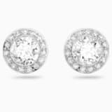 Angelic Pierced Earrings, White, Rhodium plated - Swarovski, 1081942