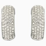 Palace 夾式耳環, 白色, 鍍銠 - Swarovski, 1144625
