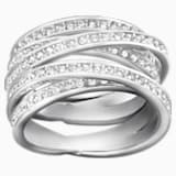 Spiral Ring, White, Rhodium Plating - Swarovski, 1156305