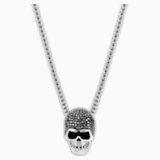 Taddeo Skull 펜던트, 블랙, 믹스메탈 피니시 - Swarovski, 1180839