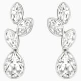 Tranquility Clip Earrings, White, Rhodium plated - Swarovski, 1184257