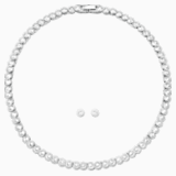 Set Tennis, bianco, Placcatura rodio - Swarovski, 5007747
