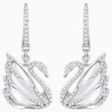 瑰丽天鹅18K金水晶钻石耳环 - Swarovski, 5009869