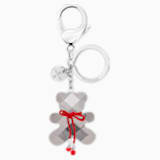 Archibald Bag Charm, Grey, Stainless steel - Swarovski, 5020914