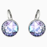 Bella Pierced Earrings, Purple, Rhodium plated - Swarovski, 5030703