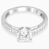 Attract Round 戒指, 白色, 鍍銠 - Swarovski, 5032919