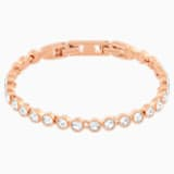 Tennis-armband, Wit, Roségoudkleurige toplaag - Swarovski, 5039938