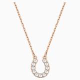 Towards Necklace, White, Rose-gold tone plated - Swarovski, 5094964