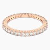 Vittore gyűrű, fehér, rozéarany árnyalatú bevonattal - Swarovski, 5095330