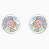 Solitaire Pierced Earrings, Multi-coloured, Rhodium plated - Swarovski, 5101343