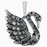 18K WG Dia Mini Swan Pendant (Black) - Swarovski, 5104089