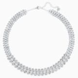 Baron Necklace, Blue, Rhodium plated - Swarovski, 5117678